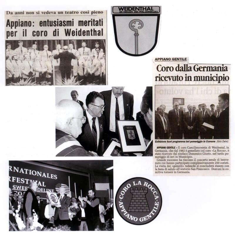 """2006 - Visita del """"Coro Caecilienverain"""" in occasione del 40° anniversario del """"Coro La Rocca"""""""