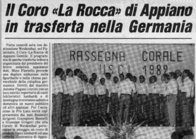 1982 - Il primo passo del Gemellaggio con il coro CAECILIENVEREIN
